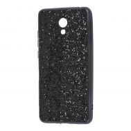 Чехол для Meizu M6 Shining sparkles с блестками черный
