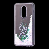 "Чехол для Meizu M8 Lite Блестки вода светло-розовый ""boy bye"""