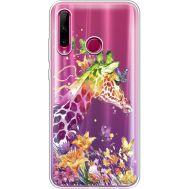 Силиконовый чехол BoxFace Huawei Honor 10i Colorful Giraffe (37080-cc14)