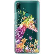 Силиконовый чехол BoxFace Huawei P Smart Z Colorful Giraffe (37382-cc14)