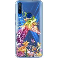 Силиконовый чехол BoxFace Huawei Honor 9X Colorful Giraffe (37997-cc14)
