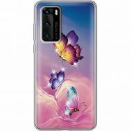 Силиконовый чехол BoxFace Huawei P40 Butterflies (939747-rs19)