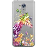 Силиконовый чехол BoxFace Huawei Honor 6A Colorful Giraffe (34983-cc14)