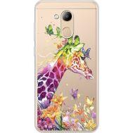 Силиконовый чехол BoxFace Huawei Honor 6C Pro Colorful Giraffe (34984-cc14)