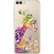 Силиконовый чехол BoxFace Huawei P Smart Colorful Giraffe (34988-cc14)