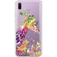 Силиконовый чехол BoxFace Huawei Honor Play Colorful Giraffe (35427-cc14)