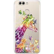 Силиконовый чехол BoxFace Huawei Nova 2 Colorful Giraffe (35781-cc14)