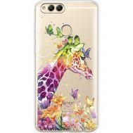 Силиконовый чехол BoxFace Huawei Honor 7x Colorful Giraffe (35886-cc14)
