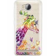 Силиконовый чехол BoxFace Huawei Ascend Y3 2 Colorful Giraffe (35887-cc14)
