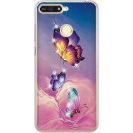 Силиконовый чехол BoxFace Huawei Y6 Prime 2018 / Honor 7A Pro Butterflies (934998-rs19)