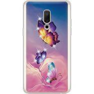 Силиконовый чехол BoxFace Meizu 15 Plus Butterflies (935783-rs19)
