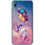 Силиконовый чехол BoxFace Huawei Y7 2019 Butterflies (936046-rs19)
