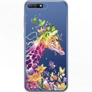 Силиконовый чехол BoxFace Huawei Y6 2018 Colorful Giraffe (34967-cc14)