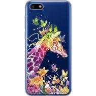 Силиконовый чехол BoxFace Huawei Y5 2018 Colorful Giraffe (34965-cc14)