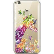 Силиконовый чехол BoxFace Huawei P8 Lite 2017 Colorful Giraffe (34992-cc14)