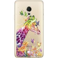 Силиконовый чехол BoxFace Meizu M15 (15 Lite) Colorful Giraffe (35007-cc14)
