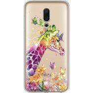 Силиконовый чехол BoxFace Meizu 16 Colorful Giraffe (35190-cc14)