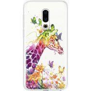Силиконовый чехол BoxFace Meizu 16th Colorful Giraffe (35189-cc14)