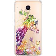 Силиконовый чехол BoxFace Meizu M3 Colorful Giraffe (35365-cc14)