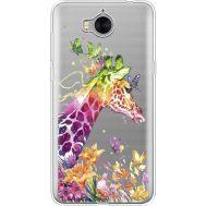 Силиконовый чехол BoxFace Huawei Y5 2017 Colorful Giraffe (35638-cc14)