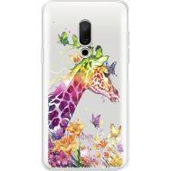 Силиконовый чехол BoxFace Meizu 15 Colorful Giraffe (35782-cc14)