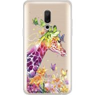 Силиконовый чехол BoxFace Meizu 15 Plus Colorful Giraffe (35783-cc14)