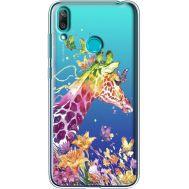 Силиконовый чехол BoxFace Huawei Y7 2019 Colorful Giraffe (36046-cc14)