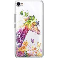 Силиконовый чехол BoxFace Meizu U10 Colorful Giraffe (36786-cc14)