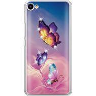 Силиконовый чехол BoxFace Meizu U10 Butterflies (936786-rs19)