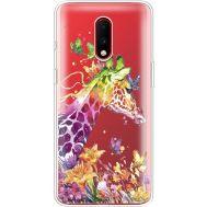 Силиконовый чехол BoxFace OnePlus 7 Colorful Giraffe (37258-cc14)