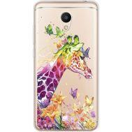 Силиконовый чехол BoxFace Meizu M6 Colorful Giraffe (35010-cc14)