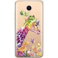 Силиконовый чехол BoxFace Meizu M5C Colorful Giraffe (35051-cc14)