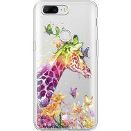 Силиконовый чехол BoxFace OnePlus 5T Colorful Giraffe (35796-cc14)