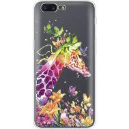 Силиконовый чехол BoxFace OnePlus 5 Colorful Giraffe (35825-cc14)