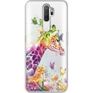 Силиконовый чехол BoxFace OPPO A5 2020 Colorful Giraffe (38520-cc14)