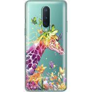 Силиконовый чехол BoxFace OnePlus 8 Colorful Giraffe (39990-cc14)