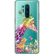Силиконовый чехол BoxFace OnePlus 8 Pro Colorful Giraffe (39995-cc14)