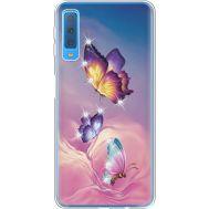 Силиконовый чехол BoxFace Samsung A750 Galaxy A7 2018 Butterflies (935483-rs19)