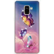 Силиконовый чехол BoxFace Samsung A730 Galaxy A8 Plus (2018) Butterflies (935992-rs19)