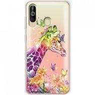 Силиконовый чехол BoxFace Samsung A6060 Galaxy A60 Colorful Giraffe (37397-cc14)