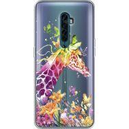 Силиконовый чехол BoxFace OPPO Reno2 Colorful Giraffe (38504-cc14)