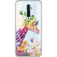Силиконовый чехол BoxFace OPPO Reno2 Z Colorful Giraffe (38510-cc14)