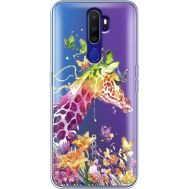 Силиконовый чехол BoxFace OPPO A9 2020 Colorful Giraffe (38525-cc14)