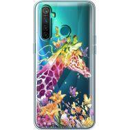 Силиконовый чехол BoxFace Realme 5 Pro Colorful Giraffe (39528-cc14)