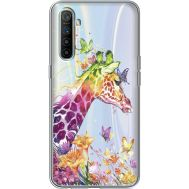 Силиконовый чехол BoxFace Realme XT Colorful Giraffe (39542-cc14)