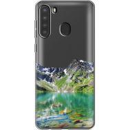 Силиконовый чехол BoxFace Samsung A215 Galaxy A21 Green Mountain (39761-cc69)