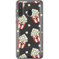Силиконовый чехол BoxFace Samsung A215 Galaxy A21 с 3D-глазками Popcorn (39761-cc75)