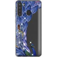 Силиконовый чехол BoxFace Samsung A215 Galaxy A21 Peafowl (939761-rs7)