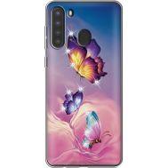 Силиконовый чехол BoxFace Samsung A215 Galaxy A21 Butterflies (939761-rs19)