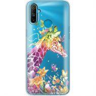 Силиконовый чехол BoxFace Realme C3 Colorful Giraffe (40465-cc14)